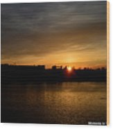 Wisconsin Sunset 10 Wood Print
