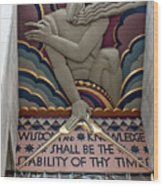 Wisdom Lords Over Rockefeller Center Wood Print