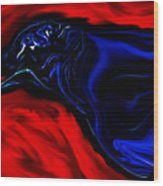 Wise Old Crow In Strange Light. Wood Print