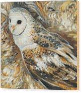 Wise Owl 4 Wood Print