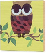 Wise Owl Wood Print