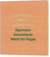 Wise Sayings About Government 5004.02 Wood Print