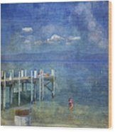 Wish You Were Here Chambers Landing Lake Tahoe Ca Wood Print