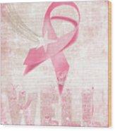 Wishing Well Breast Cancer Wood Print