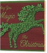 Wishing You Magic This Christmas Wood Print