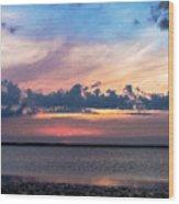 Wispy Cloud Bay Wood Print