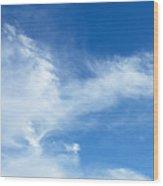 Wispy Clouds Wood Print