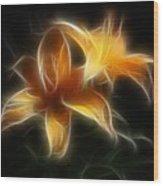 Wispy Lilies Wood Print