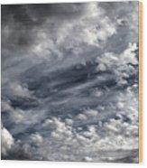 Wispy Skies Wood Print