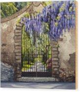Wisteria Gate Wood Print