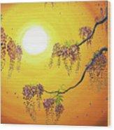 Wisteria In Golden Glow Wood Print