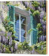 Wisteria In Provence Wood Print