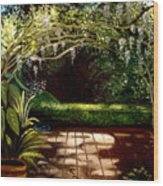 Wisteria Shadows Wood Print