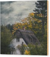 Witch Cottage Wood Print