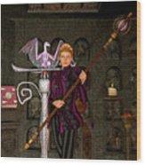 Witch Ritual Wood Print