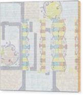 With Circus Stripes, Sideways Wood Print