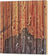 Within A Wooden Fence Wood Print