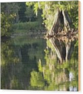 Withlacoochee Cypress Reflections Wood Print
