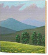 Witness Trees In Spring Wood Print