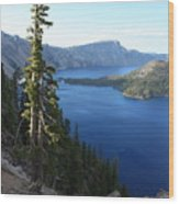 Wizard Island On Crater Lake Wood Print