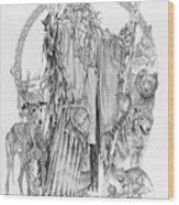 Wizard Iv - Wandering Wiseman - Pax Consensio Wood Print