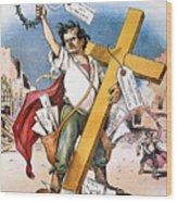 W.j. Bryan: Cross Of Gold Wood Print
