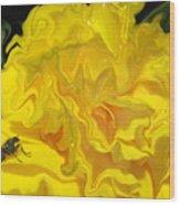 Wohlfahrtia And Begonia Wood Print