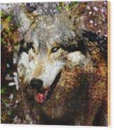 Wolf Art Version 8 Wood Print