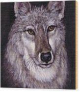 Wolf Buddy Wood Print
