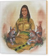 Wolf Clan Mother Wood Print