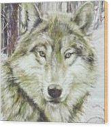Wolf Head Wood Print