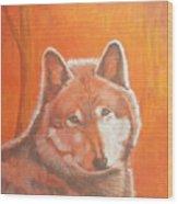 Wolf Home Burning Wood Print