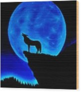 Wolf Howling  Wood Print