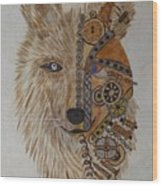 Wolf Machine Wood Print