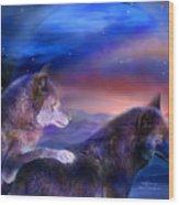 Wolf Mates Wood Print