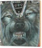 Wolf Motorcycle Gas Tank Wood Print