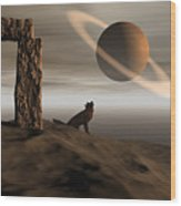 Wolf Song Wood Print