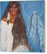 Wolf Woman Wood Print