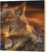 Wolfland Wood Print