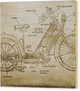 Wolfmueller Motor Cycle 1894 Wood Print