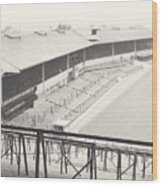 Wolverhampton - Molineux - Waterloo Road Stand 1 - Bw - Leitch - September 1968 Wood Print