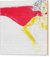 Woman 1 Wood Print
