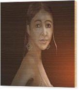 Woman 10 Wood Print