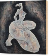 Woman 14  From When De Body Talks Collection Wood Print