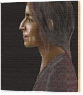 Woman 20 Wood Print