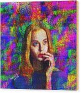Woman 378 Wood Print