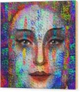 Woman 395 Wood Print