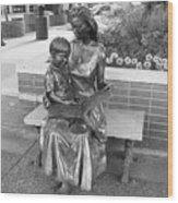 Woman And Child Sculpture Grand Junction Co Wood Print