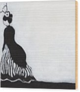 Woman At Victorian Festival In Port Townsend Wood Print