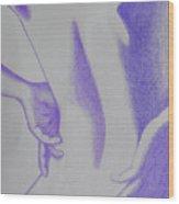 Woman Back Purple Wood Print